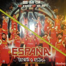 Coleccionismo deportivo: POSTER SELECCION ESPAÑOLA DE BALONCESTO BASKET OLIMPIADAS RIO RUTA Ñ PAU GASOL. Lote 61769856