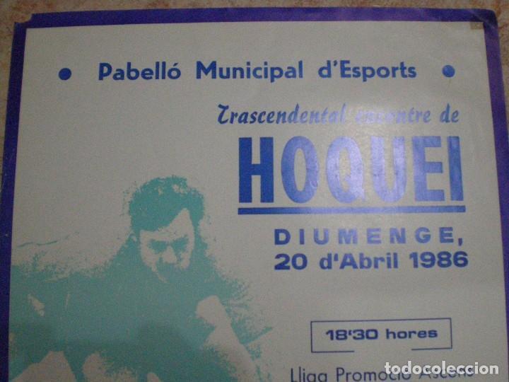 Coleccionismo deportivo: 1986. VILANOVA I LA GELTRU (BARCELONA) CARTEL HOQUEI FIATC VILANOVA Y ACD SENTMENAT - Foto 2 - 63695019