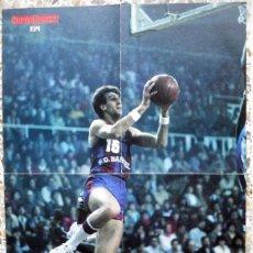 Colecionismo desportivo: POSTER BALONCESTO BASKETBALL SUPERBASKET EPI SAN EPIFANIO FC BARCELONA SUPERE EPI BASKET VINTAGE. Lote 65700806