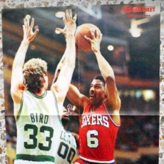 Collezionismo sportivo: POSTER BALONCESTO BASKETBALL SUPERBASKET JULIUS DR.J ERVING SIXERS. LARRY BIRD CELTICS. NBA AÑOS 80. Lote 65701386