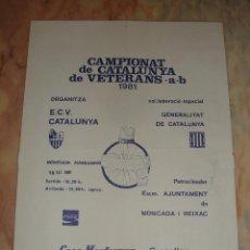 Coleccionismo deportivo: CARTEL CICLISMO CAMPIONAT DE CATALUNYA DE VETERANS A-B 1981 PUBLICIDAD COCA COLA. Lote 68081217
