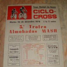 Coleccionismo deportivo: CARTEL CICLISMO CICLO CROSS HOSPITALET 1978 PUBLICIDAD. Lote 68233793