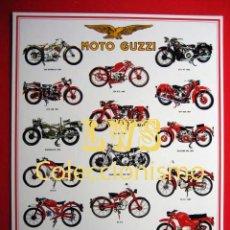 Coleccionismo deportivo: MOTO GUZZI MODELOS PUBLICIDAD IMAGENES - MOTOCICLISMO MOTOS MOTOR. Lote 153934108