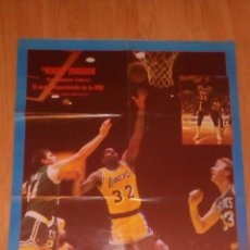 Coleccionismo deportivo: PÓSTER LOS ANGELES LAKERS, MAGIC JOHNSON AÑOS 80. Lote 71623247