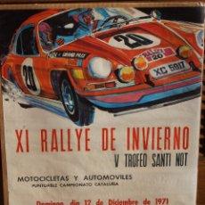 Coleccionismo deportivo: CARTEL ORIGINAL XI RALLY INVIERNO 1971 V TROFEO SANTI NOT PORSCHE . Lote 72778495