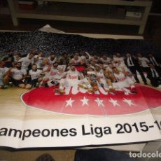 Coleccionismo deportivo: B15FG POSTER BALONCESTO REAL MADRID CAMPEON DE LIGA 2015 2016. Lote 74353191