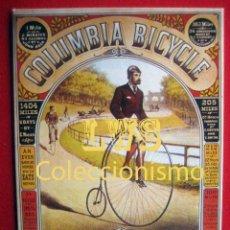 Coleccionismo deportivo: COLUMBIA BICYCLE, BOSTON, PUBLICIDAD IMÁGENES - CICLISMO - BICICLETAS - CICLISMO. Lote 74752135