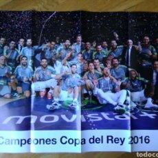 Coleccionismo deportivo: PÓSTER REAL MADRID BALONCESTO CAMPEÓN COPA DEL REY 2016 74 X53. Lote 75487494