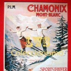 Coleccionismo deportivo: CHAMONIX MONT-BLANC, PUBLICIDAD IMÁGENES - DEPORTES - ESQUÍ. Lote 195149018