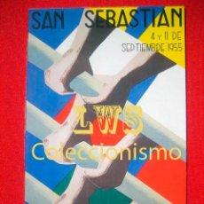 Coleccionismo deportivo: REGATAS DE TRAINERAS, SAN SEBASTIAN 1955, GIPUZKOA PUBLICIDAD IMÁGENES DEPORTES TRAINERAS PAIS VASCO. Lote 81216992