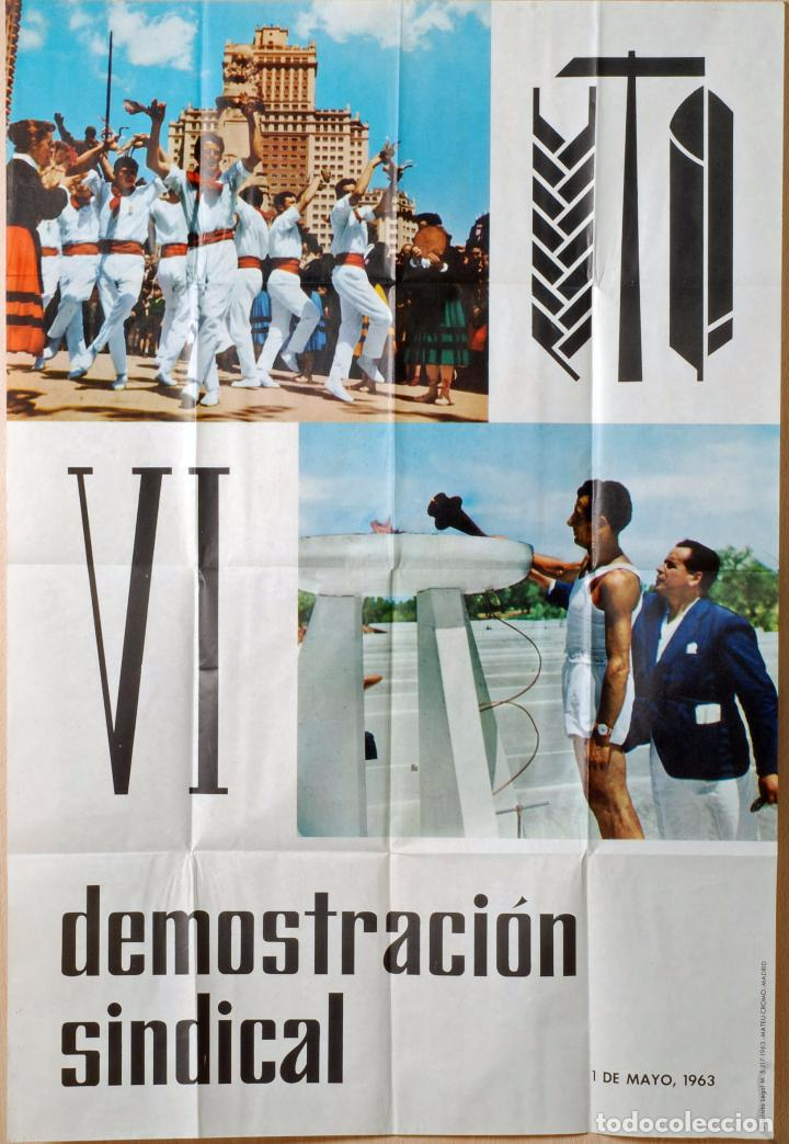 CARTEL IV DEMOSTRACIÓN SINDICAL JUEGOS DEPORTIVOS 1 MAYO 1963 (Coleccionismo Deportivo - Carteles otros Deportes)