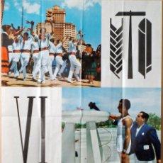 Coleccionismo deportivo: CARTEL IV DEMOSTRACIÓN SINDICAL JUEGOS DEPORTIVOS 1 MAYO 1963. Lote 76973761