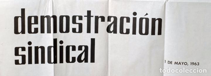 Coleccionismo deportivo: Cartel IV Demostración Sindical Juegos Deportivos 1 mayo 1963 - Foto 3 - 76973761