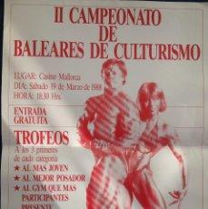 Coleccionismo deportivo: PÓSTER CAMPEONATO DE CULTURISMO AÑO 1988. Lote 77556681