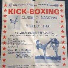Coleccionismo deportivo: POSTE KICK BOXING ROGER PASCHY AÑO 1985. Lote 77938373