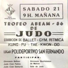 Coleccionismo deportivo: POSTE JUDO AÑO 1986. Lote 78150165
