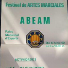 Coleccionismo deportivo: POSTE ARTES MARCIALES AÑO 1992. Lote 78156677