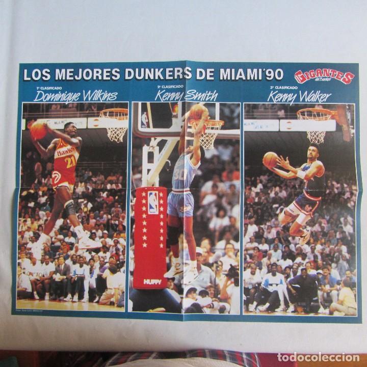 POSTER GRANDE LOS MEJORES DUNKERS ALL STAR MIAMI 1990 (Coleccionismo Deportivo - Carteles otros Deportes)
