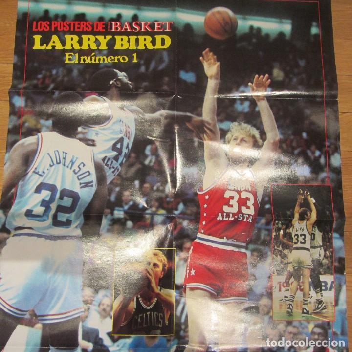 Coleccionismo deportivo: Poster Gigante Larry Bird. Nuevo Basket - Foto 2 - 78789889
