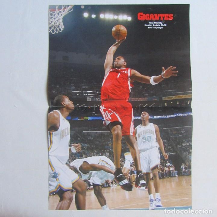 Coleccionismo deportivo: Doble poster Tracy Mc Grady Houston Rockets. Al Horford Atlanta Hawks. 07-08 - Foto 1 - 78789961