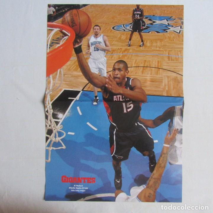Coleccionismo deportivo: Doble poster Tracy Mc Grady Houston Rockets. Al Horford Atlanta Hawks. 07-08 - Foto 2 - 78789961