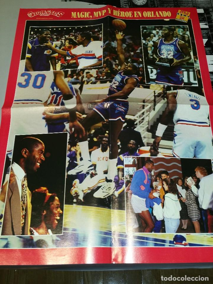 Coleccionismo deportivo: Doble Poster Grande Magic Johnson All Star 1992. Orlando. Cedric Ceballos Mates NBA - Foto 1 - 78798561