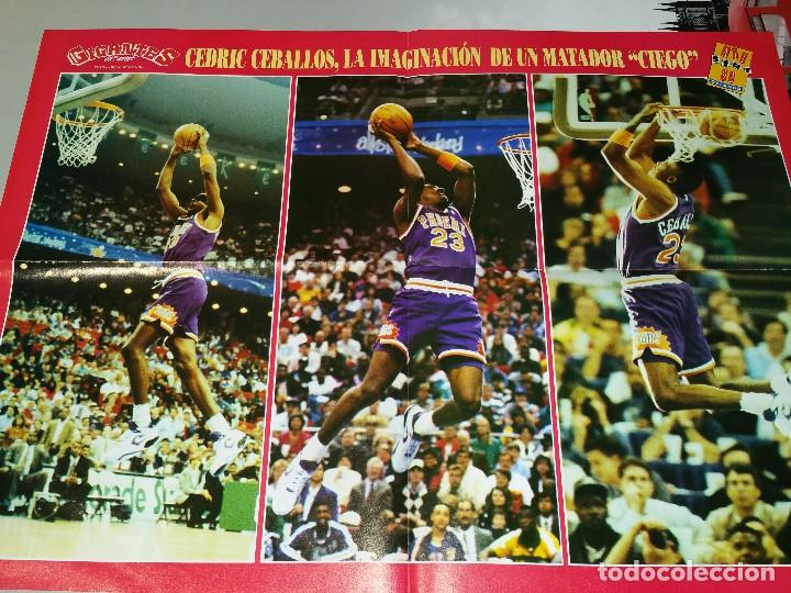 Coleccionismo deportivo: Doble Poster Grande Magic Johnson All Star 1992. Orlando. Cedric Ceballos Mates NBA - Foto 2 - 78798561