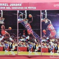 Coleccionismo deportivo: POSTER MICHAEL JORDAN GANADOR CONCURSO MATES 1988 CHICAGO BULLS ALL STARS 88 GIGANTES DEL BASKET NBA. Lote 79638261