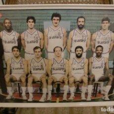 Coleccionismo deportivo: POSTER REAL MADRID BALONCESTO CAMPEON LIGA 85-86. Lote 79814353