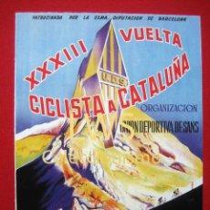 Coleccionismo deportivo: XXXIII VUELTA CICLISTA A CATALUÑA CINZANO 1953, PUBLICIDAD DEPORTES - BICICLETA S-1. Lote 80239989