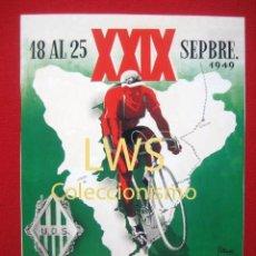 Coleccionismo deportivo: XXIX VUELTA CICLISTA A CATALUÑA, IX GRAN PREMIO PIRELLI 1949, PUBLICIDAD DEPORTES - BICICLETA S-1. Lote 80240261