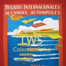 Coleccionismo deportivo: REGATAS INTERNACIONALES DE CANOAS AUTOMÓVILES, BARCELONA JUNIO 1924, PUBLICIDAD DEPORTES S-1. Lote 80241573