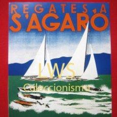 Coleccionismo deportivo: REGATES A S'AGARO, VELA, CANOTS, OUTBOARDS DELS CLUBS NAUTIC I MARITIM DE BARCELONA 1932 S-1. Lote 210679410