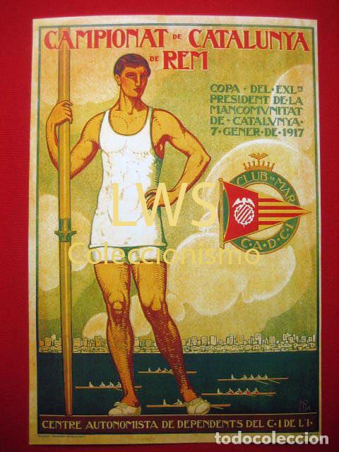 CAMPIONAT DE CATALUNYA DE REM, CLUB DE MAR C.A.D.C.I, PUBLICIDAD DEPORTES REMO S-1 (Coleccionismo Deportivo - Carteles otros Deportes)
