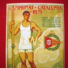 Coleccionismo deportivo: CAMPIONAT DE CATALUNYA DE REM, CLUB DE MAR C.A.D.C.I, PUBLICIDAD DEPORTES REMO S-1. Lote 80243541