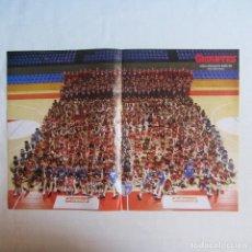Coleccionismo deportivo: DOBLE POSTER ADECCO ESTUDIANTES 2005-2006. NACHO AZOFRA. ESTUDIANTES 2005-2006. Lote 80574362