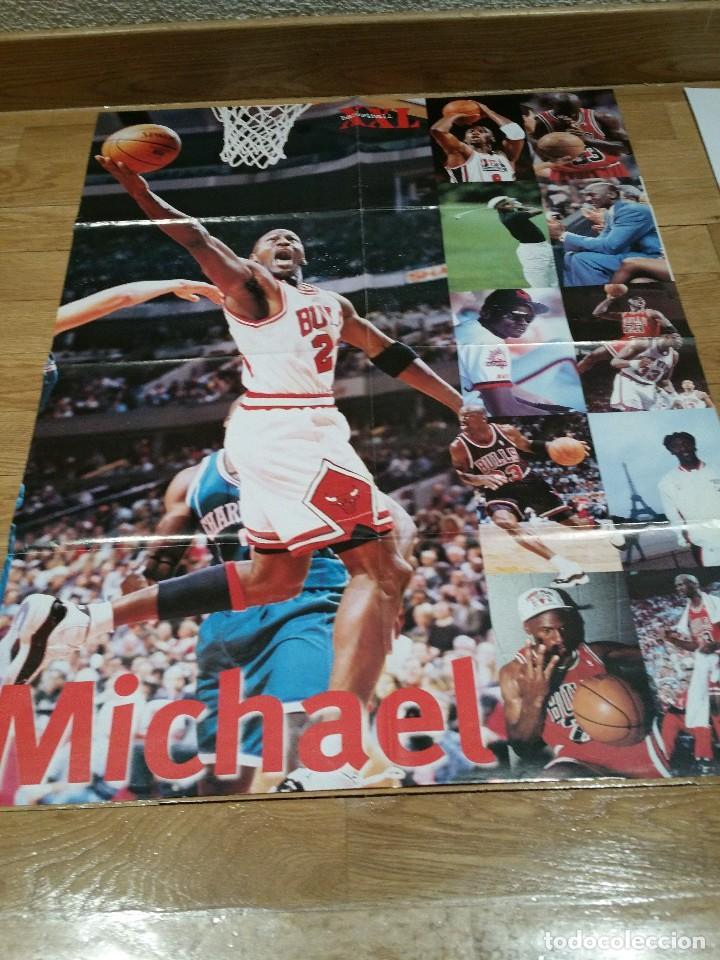 POSTER GIGANTE MICHAEL JORDAN. CHICAGO BULLS. NBA (Coleccionismo Deportivo - Carteles otros Deportes)
