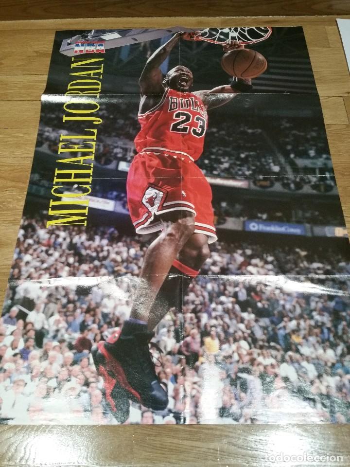 POSTER GRANDE MICHEL JORDAN. CHICAGO BULLS. NBA (Coleccionismo Deportivo - Carteles otros Deportes)