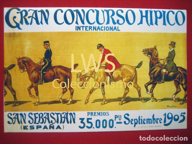 GRAN CONCURSO HÍPICO, SAN SEBASTIAN AÑO 1905 - PUBLICIDAD IMÁGENES - DEPORTES S-2 (Coleccionismo Deportivo - Carteles otros Deportes)