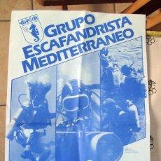 Coleccionismo deportivo: SUBMARINISMO, POSTER, CARTEL GRUPO ESCAFANDRISTA MEDITERRANEO - CURSILLO ESCAFANDRISMO 1983. Lote 82890344