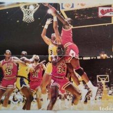 Coleccionismo deportivo: POSTER GIGANTE MICHAEL JORDAN CHICAGO BULLS LAKERS NBA BASKET BALONCESTO VINTAGE . Lote 82914952