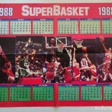 Coleccionismo deportivo: POSTER CALENDARIO 1988 SUPERBASKET NBA FOTOS JORDAN, SPUD WEBB ENTRE OTROS. Lote 82915144