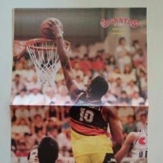 Coleccionismo deportivo: POSTER DAVID RUSSEL ESTUDIANTES AÑOS 80 BALONCESTO ESPAÑOL REVISTA GIGANTES. Lote 82915308