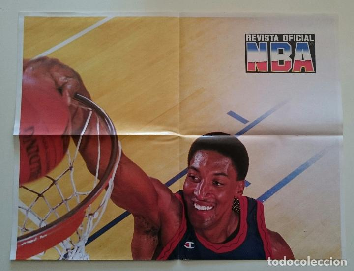 POSTER SCOTTIE PIPPEN REVISTA OFICIAL NBA CHICAGO BULLS USA BASKETBALL DREAM TEAM 2 MICHAEL JORDAN (Coleccionismo Deportivo - Carteles otros Deportes)