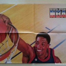 Coleccionismo deportivo: POSTER SCOTTIE PIPPEN REVISTA OFICIAL NBA CHICAGO BULLS USA BASKETBALL DREAM TEAM 2 MICHAEL JORDAN. Lote 82915816