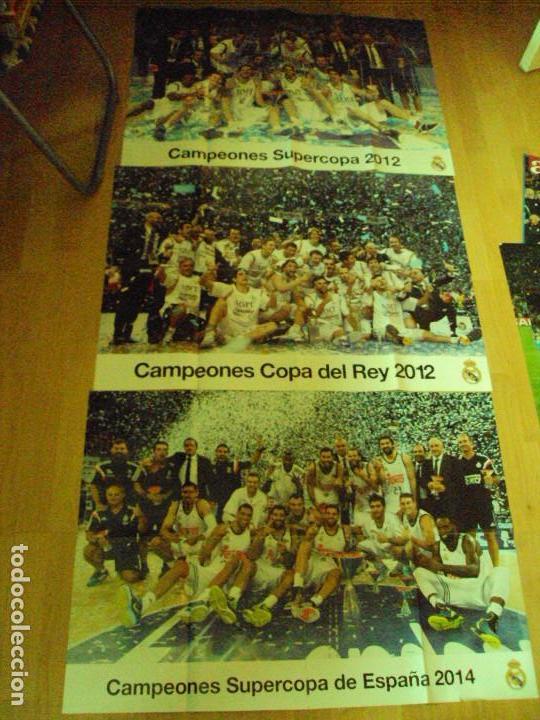 LOTE DE 3 POSTER DEL MADRID DE BALONCESTO (Coleccionismo Deportivo - Carteles otros Deportes)