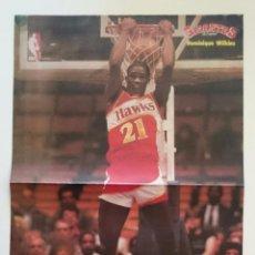 Coleccionismo deportivo: POSTER WILKINS ATLANTA HAWKS NBA BALONCESTO. Lote 85288012
