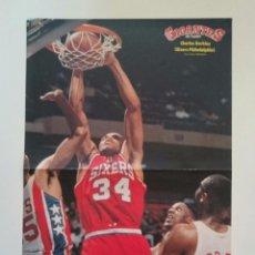 Coleccionismo deportivo: POSTER CHARLES BARKLEY NBA SIXERS FILADELFIA NBA BALONCESTO. Lote 85288100