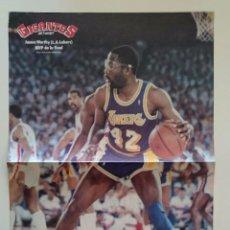 Coleccionismo deportivo: POSTER JAMES WORTHY NBA LOS ANGELES LAKERS BALONCESTO GIGANTES. Lote 85288856