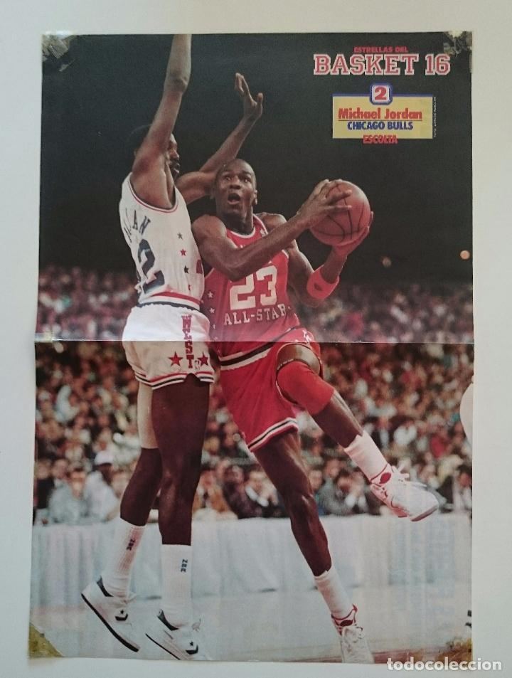 POSTER MICHAEL AIR JORDAN CHICAGO BULLS ALL STAR 1987 REVISTA BASKET16 NBA BALONCESTO (Coleccionismo Deportivo - Carteles otros Deportes)